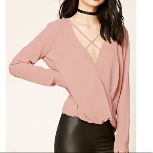 Blush Pink Low front blouse